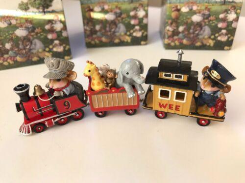 Wee Forest Folk TRAIN Set -  Wonderland Express, Circus Car, Caboose - PRISTINE