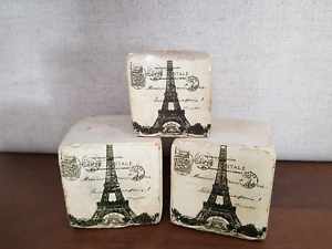 EIFFEL TOWER 🗼 small decor concrete cubes Kyneton Macedon Ranges Preview