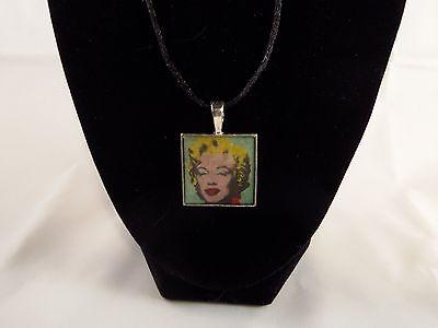New DIY art print necklace Andy Warhol - Marilyn #4
