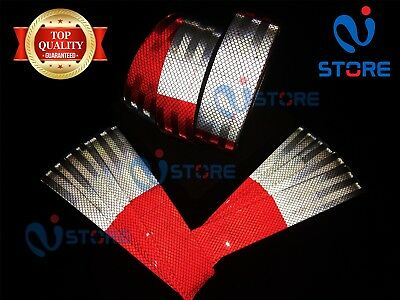 Dot-c2 Conspicuity Reflective Tape 6 Red 6 White Safety Warning Trailer Rv