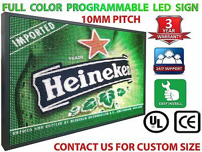 Outdoor Led Sign Programmable 15 X 76 P10 Full Color Marquee Business Display