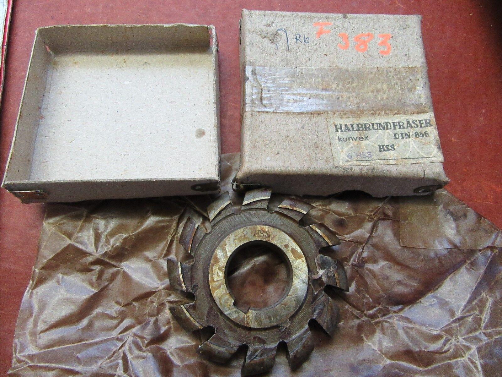 Halbkreisformfräser konvex  6HSS 80/12 Halbrundfräser Halbkreisfräser  #F383#