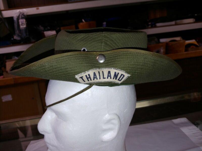Authentic Vietnam era Thailand bush hat worn by US military in Vietnam 1960s