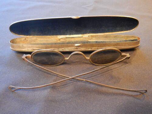 Civil War Era Antique C. Parker Eyeglasses w Case dated 1850 pat.
