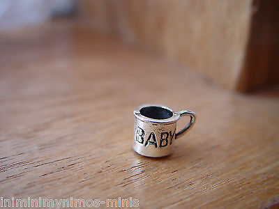 DOLL HOUSE 12th SCALE LOVELY BABIES 'SILVER' MUG !! BID NOW & DON'T MISS OUT...