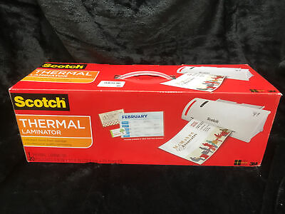 New Scotch Tl902vp Thermal Laminator Roller System With 20 Laminating Pouches