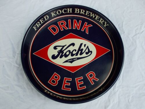 Fred Koch Brewery Dunkirk NY Red/White/Blue Beer Serving Tray Excellent 40s 50