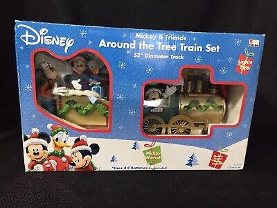 Never been Used VINTAGE-Disney Train Around The Tree Train Set Mickey Christmas