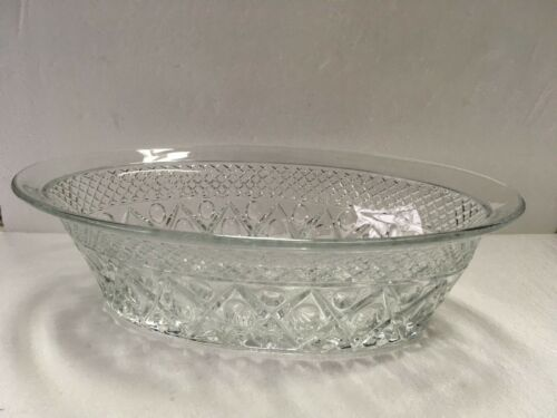 "Imperial CAPE COD Oval Centerpiece Bowl Clear Elegant Glass 11 1/8"" Vintage"