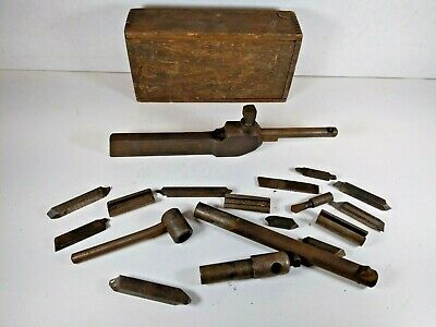 Vtg 1925 Hallstrom Straight Boring Bar Tool Holder Set Fsouth Bend Atlas Lathe