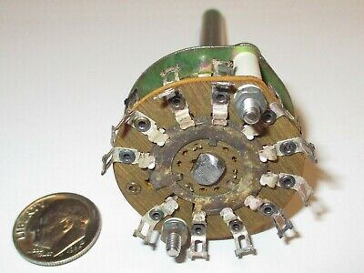 Centralab Phenolic Rotary Switch Special 2 Pole - 11 Positions Pa-41 Nos