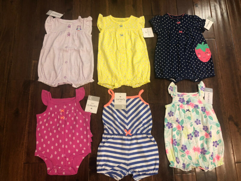 6 Piece Lot Of Baby Girl Summer Clothes Size 3 Months NWT