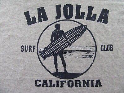 b10a118b4 LA JOLLA SURF CLUB California Surfer Surfboard Beach Gray SS T Shirt Size XL