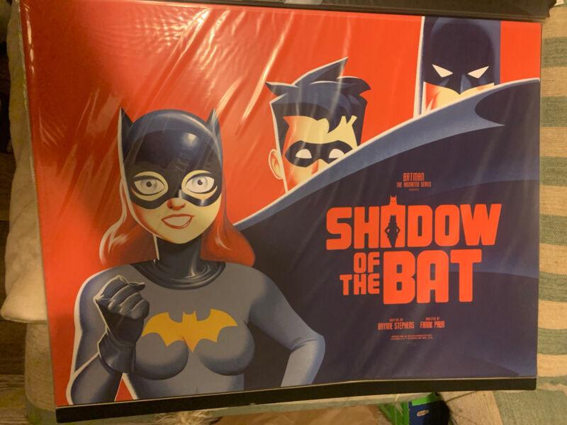 Phantom City Creative BATMAN TAS Animated SHADOW OF THE BAT Mondo Poster