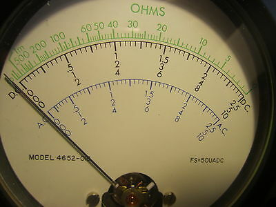 Jewell Instruments Ac Dc Ohm Meter Pn 4652-018 64d21132 Large 4.5 New Qty.