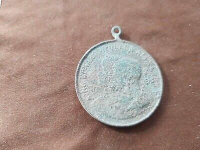 Unresearched bronze Medallion (Bridlington) as found uncleaned condition. L151x