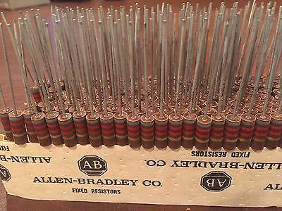 Vintage Allen Bradley Bumble Bee Fixed Resistors