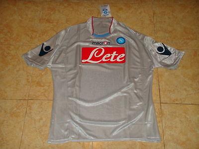 Napoli Soccer Jersey Italy Football Shirt Maglia Maillot Trikot Grey Macron Top for sale  Shipping to Canada