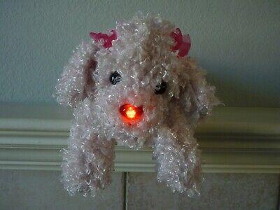 """Mattel Barbie HUG N' HEAL Sneezing Barking Pink Plush Poodle Nose Lights Up 13"""""""