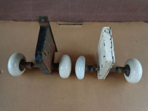 Antique, Vintage Porcelain Door Knobs & Locking Mechanism