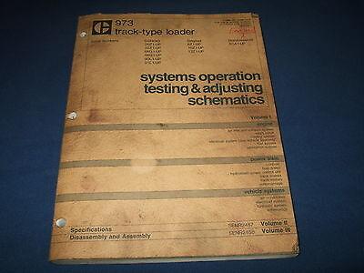 Cat Caterpillar 973 Track Loader Systems Operation Testing Adjusting Manual