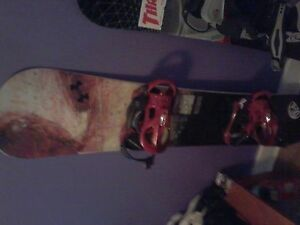 adult size burton snowboard and large bindings