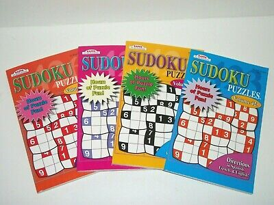 Lot of 4 Kappa Sudoku Puzzle Books Vol. 423-426 Take Along New