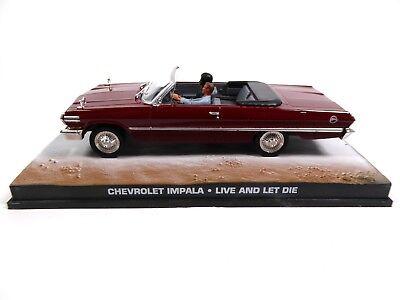 Chevrolet Impala Convertible 1963 - James Bond 007- 1:43 Diecast Model Car DY054