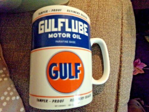 Open Road GULF Gulflube The Motor Oil X-Large Coffee Cup Mug Quart Size