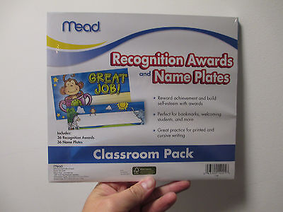 MEAD Recognition AWARDS & NAME PLATES Teacher Resource Classroom Pack NEW - Classroom Awards