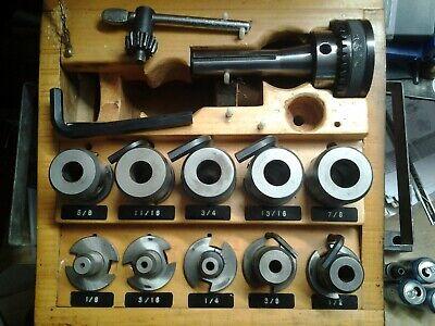 Bridgeport R8 Taper Shank Quick Change Master W 10 Tool Holders Key