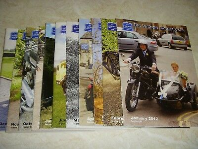 OLD MOTOR CYCLE MAGAZINES 2012 x 11