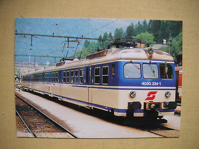 3202 Postkarte ÖBB 4030.234-1 in Bad Aussee 1988