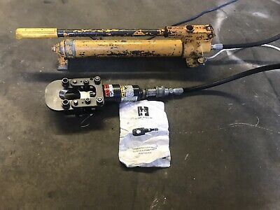 Huskie Hydraulic Cable Cutter W Enerpac Hand Pump
