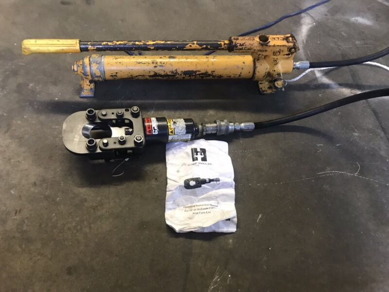 Huskie Hydraulic Cable Cutter W/ Enerpac Hand Pump