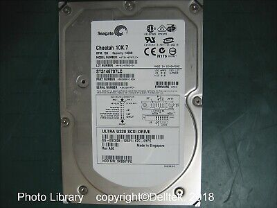 Dell GC828  Y4628 Seagate Cheetah HD 146GB 10k U320 ST3146707LC 90 Day Warranty 90 Day Seagate Cheetah