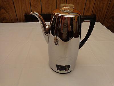 Vintage Mid Century Universal Coffeematic Chrome Percolator Coffee Pot 4408