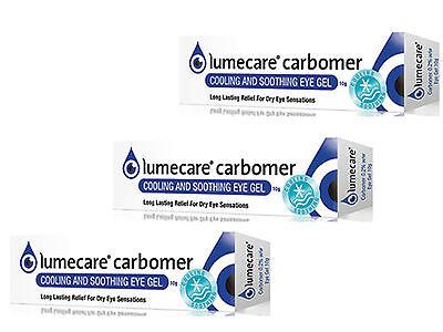 Lumecare Carbomer Eye Gel 10g {Pack Of 3}