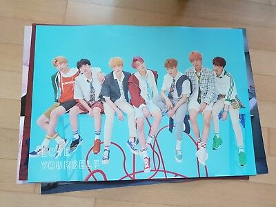 BTS Bangtan Boys Love Yourself 結 Answer F VER . Official folded Poster  eldo