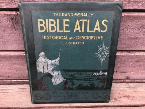 SCARCE EARLY RAND-MCNALLY BIBLE ATLAS JESSE HURLBUT 1899 EDITION Antique