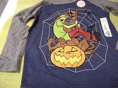 SCOOBY DOO  HALLOWEEN   SHIRT  LONG  SLEEVE GIRL OR BOY SIZE 4T NEW