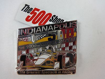2016 Indianapolis 500 100TH Runing Car Mount Collector Lapel Pin Indy500 IndyCar