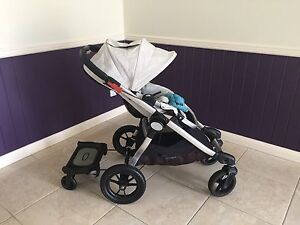 Baby Jogger City Select Stroller + Bassinet + Glider Board + Raincover Murrumba Downs Pine Rivers Area Preview