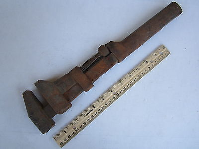 Vintage 15  At   Sf Ry Adjustable Monkey Wrench Billings  Z88