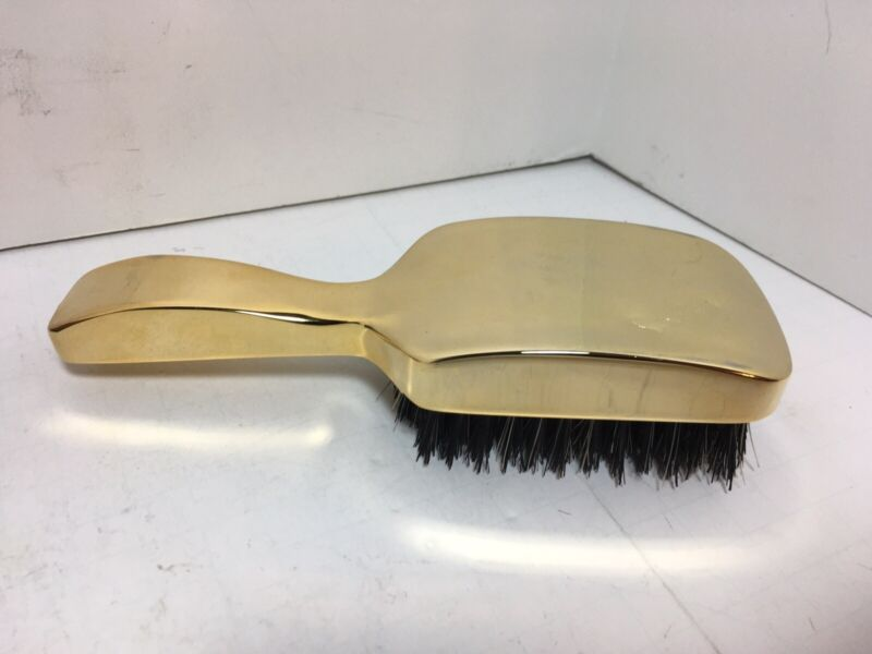 "Vintage Pierre Cardin Gold Toned Metal Brass Club Brush 7"""