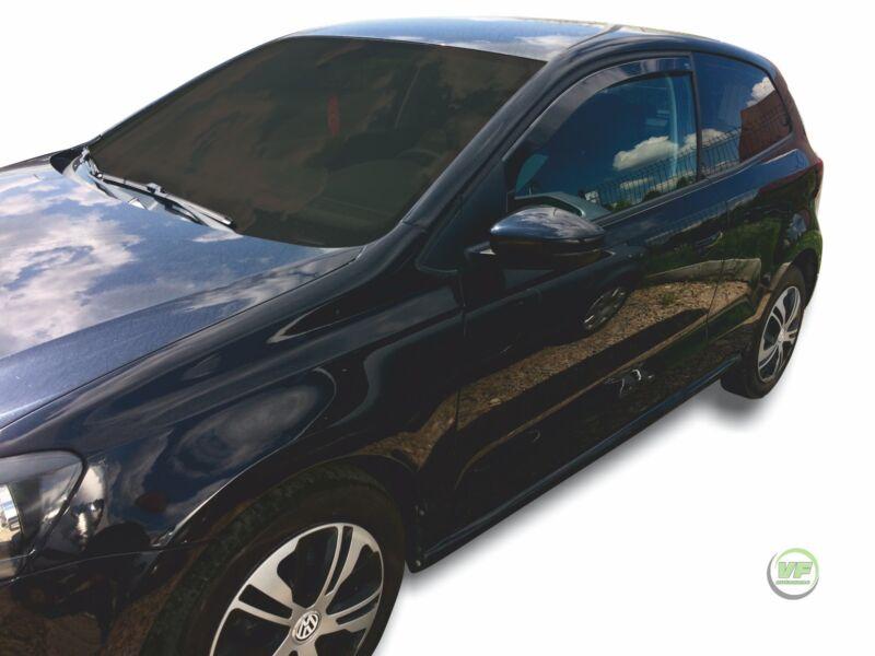 Desviadores de viento para Volkswagen VW Polo MK5 6R 5 puertas 2009 4-pc Teñido