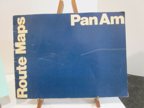 VTG PAN AM AIRLINES WORLD ROUTE MAPS BOOKLET 1972 ADVERTISING BROCHURE ~29 PAGES