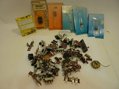 Lot Of Miscellaneous Vintage Electronics Switches Resistors Diodes