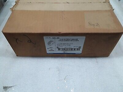 Qc-20 Thomas Belt 2 Pole 20a 240vac Circuit Breaker Case Of 12 New