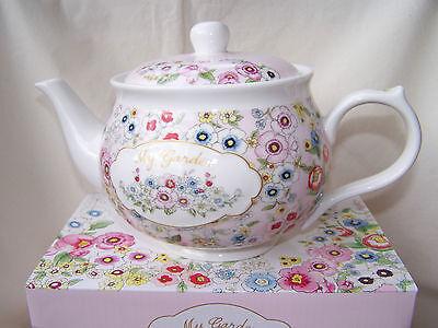 - Teekanne mit Blütendekor aus Porzellan -  * My Garden *  ORIGINAL Easy Life Garden Teekanne